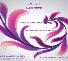 2017/2018 Inscriptions: club des femmes