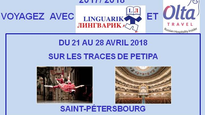 Voyagez avec Linguarik: Saint-Pétersbourg du 21 au 28 avril 2018